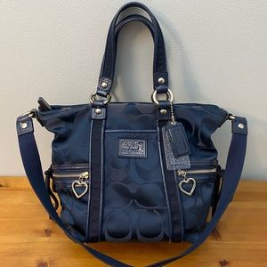 Coach Navy Handbag
